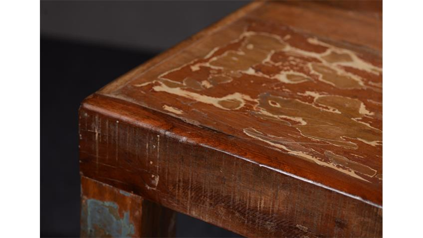 Tisch FRIDGE Echt Altholz bunt lackiert 140x90 cm
