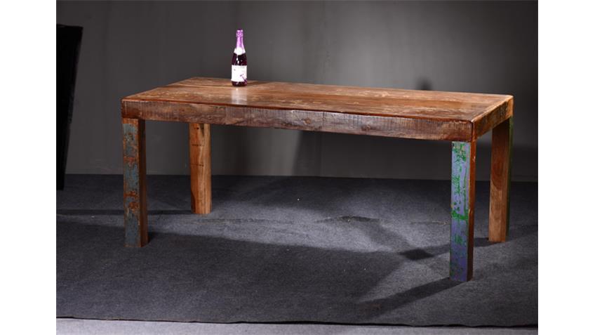 Tisch FRIDGE Echt Altholz bunt lackiert 180x90 cm