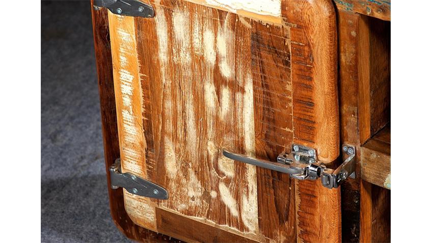Lowboard FRIDGE Echt Altholz bunt lackiert