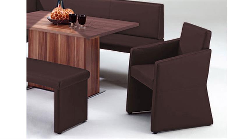 Polstersessel QUADRO komplett bezogen Sessel in braun