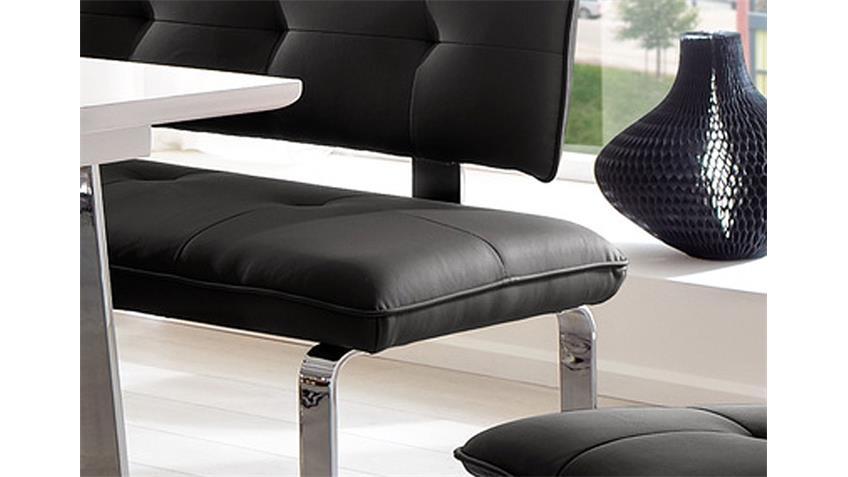 Sitzbank SPRING Schwarz und Chrom 160 cm