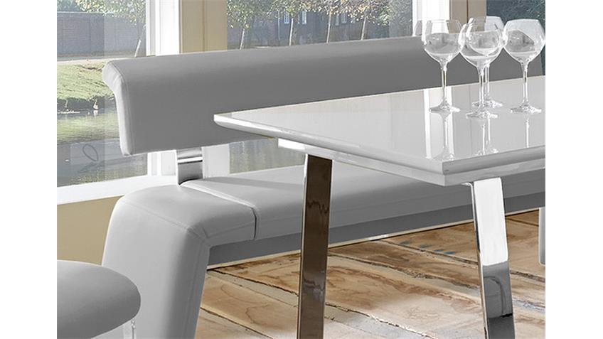 Tischgruppe SATELLITE FELIX Weiß Hochglanz und Grau