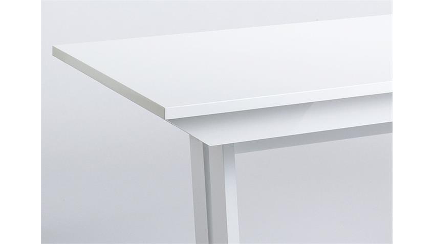 Esstisch OSLO Weiß Hochglanz lackiert 160