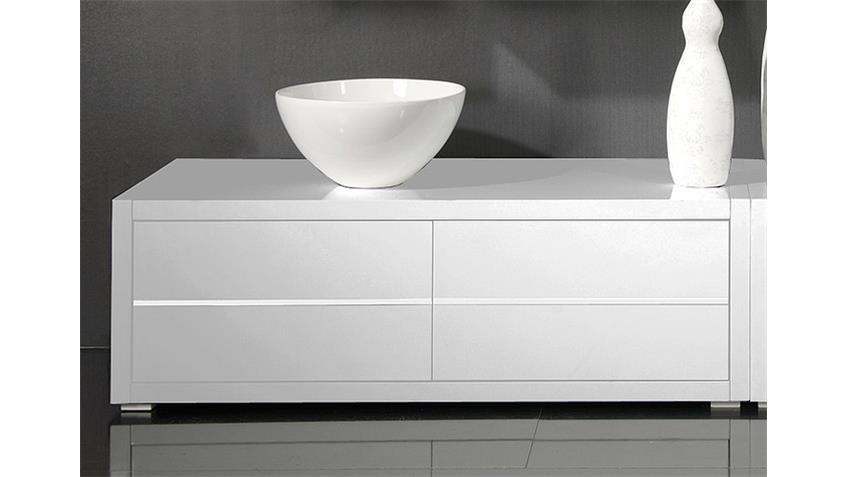Lowboard SYDNEY Weiß Hochglanz lackiert B 130 cm