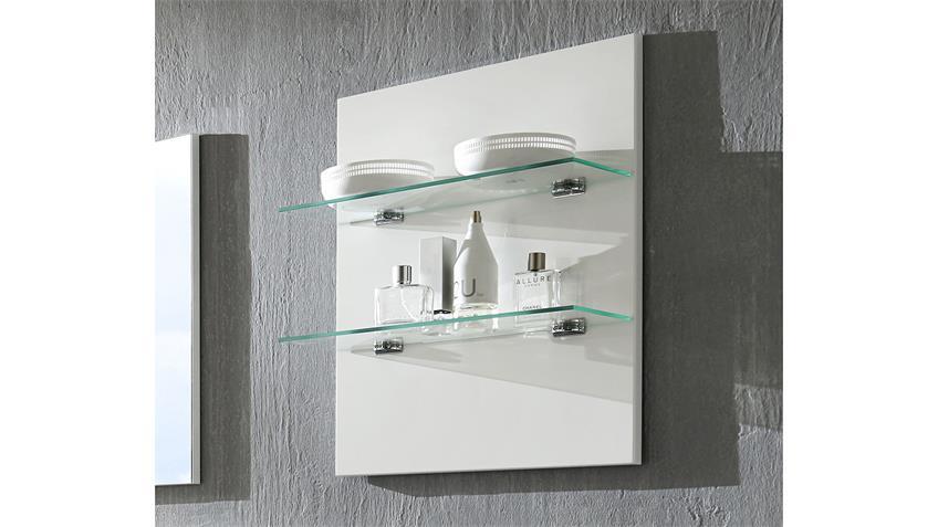 Wandpaneel SHARPCUT Paneel in weiß mit Glasböden