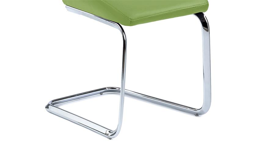 Schwingstuhl SNAP 01 4er-Set Esszimmerstuhl in lime