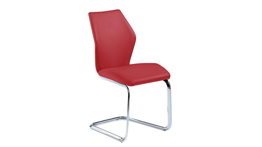 Schwingstuhl SNAP 01 4er-Set Esszimmerstuhl in rot