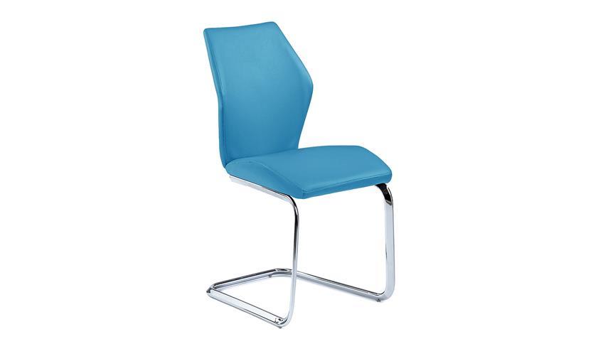 Schwingstuhl SNAP 01 4er-Set Esszimmerstuhl in blau