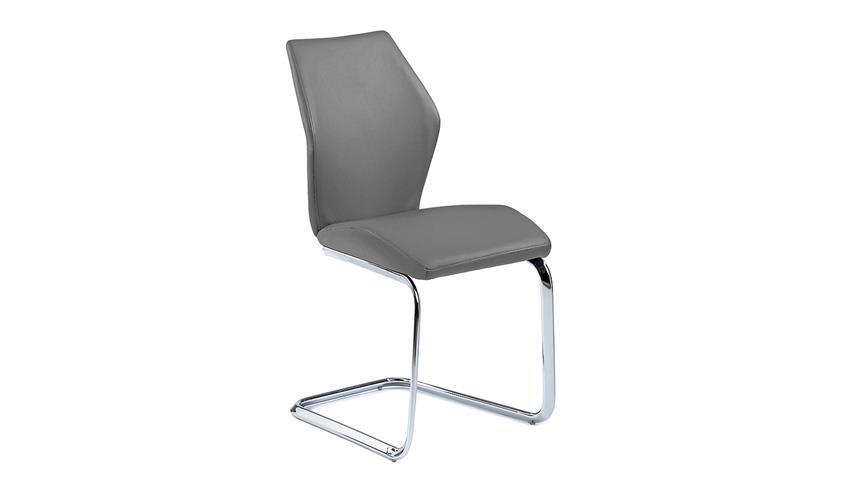 schwingstuhl snap 01 4er set esszimmerstuhl in grau. Black Bedroom Furniture Sets. Home Design Ideas