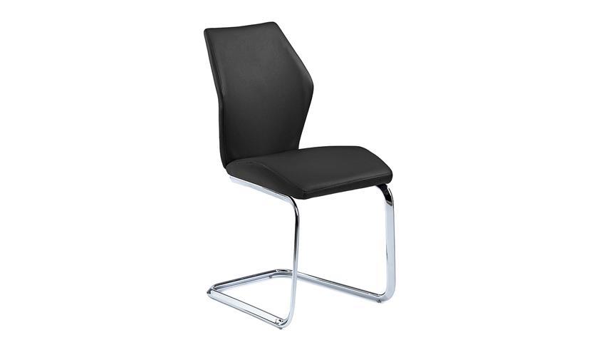 Schwingstuhl SNAP 01 4er-Set Esszimmerstuhl in schwarz