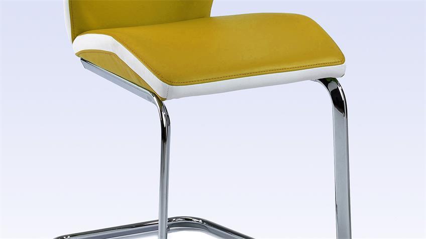 Schwingstuhl SNAP 02 4er-Set Esszimmerstuhl in mais