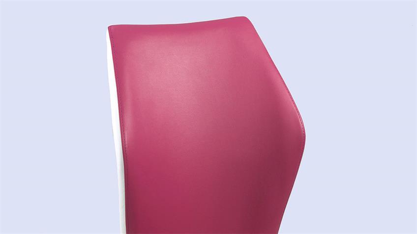 Schwingstuhl SNAP 02 4er-Set Esszimmerstuhl in pink