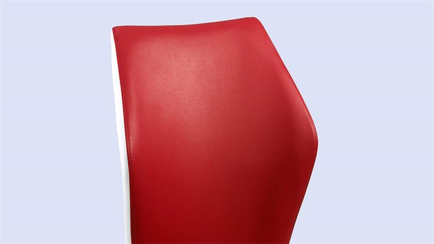 Schwingstuhl SNAP 02 4er-Set Esszimmerstuhl in rot