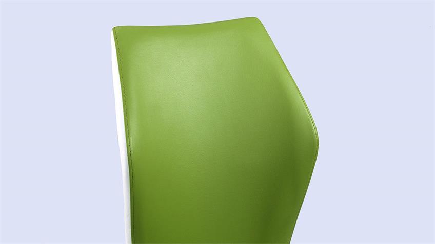 Schwingstuhl SNAP 02 4er-Set Esszimmerstuhl in grün