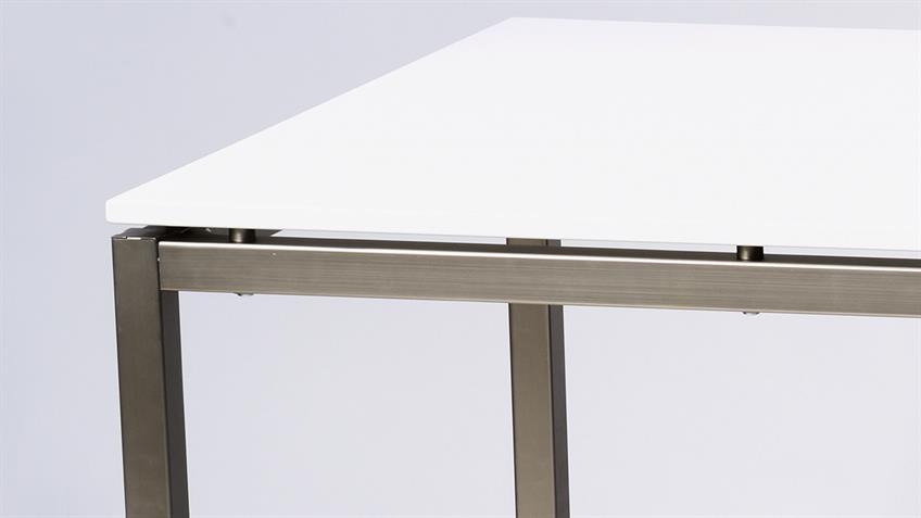 Esstisch FLORENCE 01 weiß Hochglanz 180x90 cm