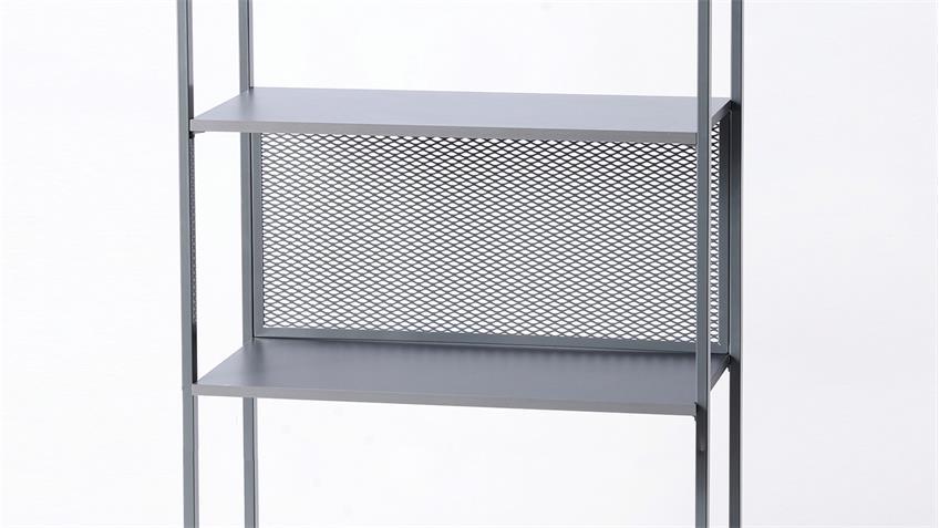 Regal MORENO 01 Stahl dunkelgrau Büroregel Aktenregal Büro