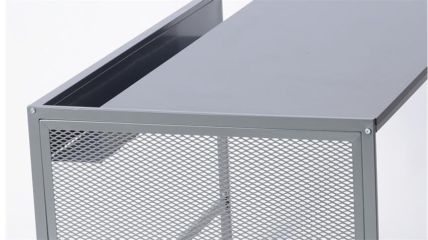 Schreibtisch MORENO 02 in Stahl grau Computertisch