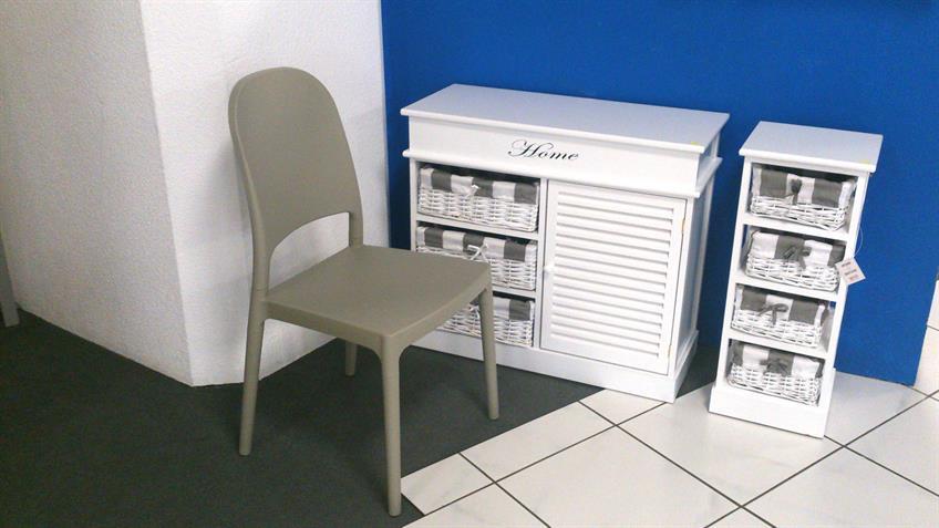 Stuhl POLLY 2-er Set Kunststoff sand für Küche und Outdoor