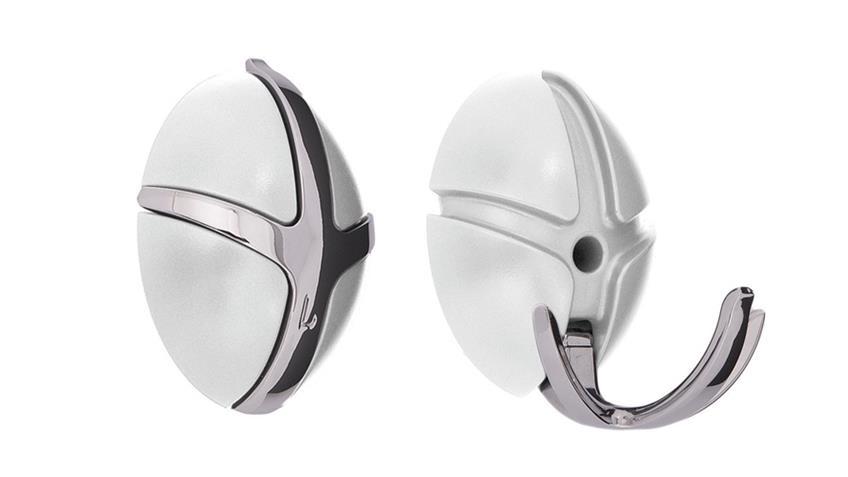 Garderobe TICK Spinder Design Wandgarderobe weiß und Chrom