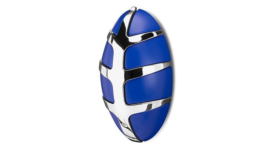 Garderobe BUG Spinder Design Wandgarderobe blau und Chrom