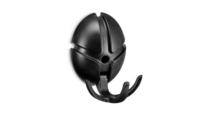 Garderobe TICK Spinder Design Wandgarderobe Wandhaken in schwarz