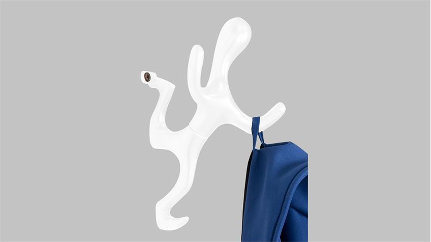 Garderobe TORQX Spinder Design Wandgarderobe Wandhaken in weiß