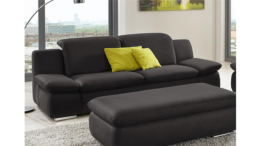 3er sofa isona wohnzimmersofa in anthrazit mit funktion. Black Bedroom Furniture Sets. Home Design Ideas