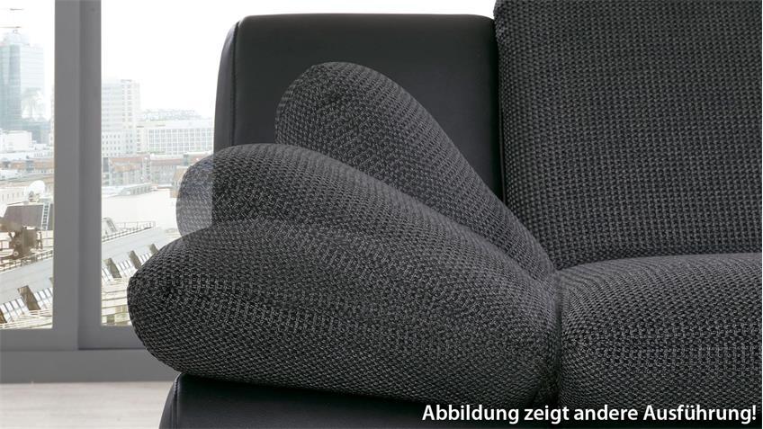 Sofa ISONA 3-Sitzer Stoff anthrazit mit Komfortfunktion