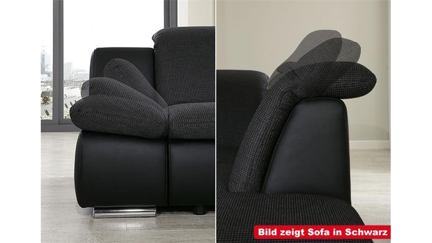 2er Sofa ISONA Wohnzimmersofa in anthrazit mit Funktion