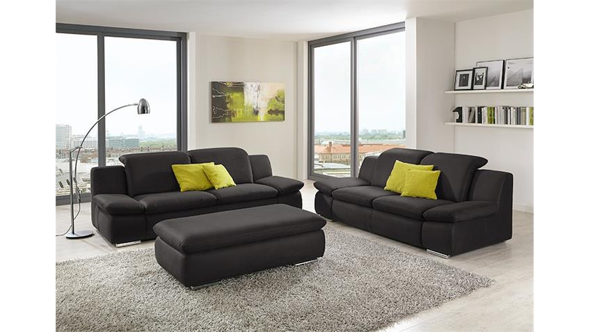 2er sofa isona wohnzimmersofa in anthrazit mit funktion. Black Bedroom Furniture Sets. Home Design Ideas