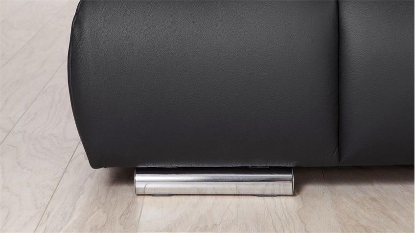 Ecksofa VIGO in schwarz mit Nosagfederung und Armteilfunktion 264x208