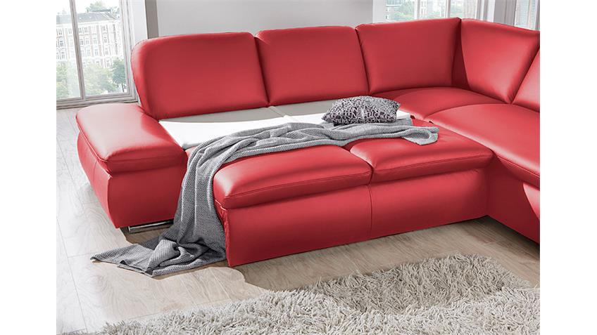 Ecksofa VIGO Wohnlandschaft rot mit Bettkasten und Funktion