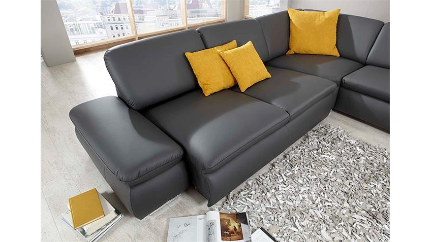 Ecksofa VIGO Wohnlandschaft Sofa in dunkelgrau 296 cm