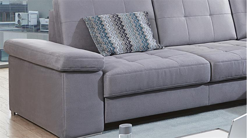Ecksofa PUZZLE Wohnlandschaft Sofa in grau 277x233 cm