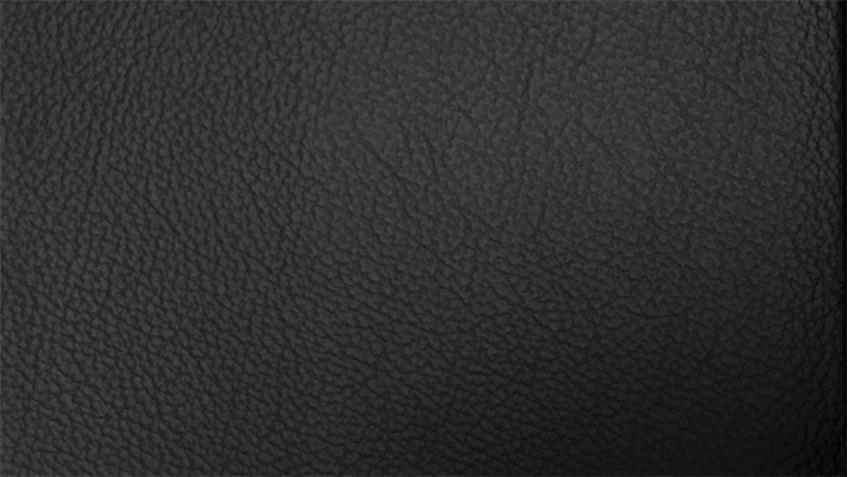 Sofagarnitur PUZZLE 3-2 in Echtleder schwarz mit Federkern 2-teilig