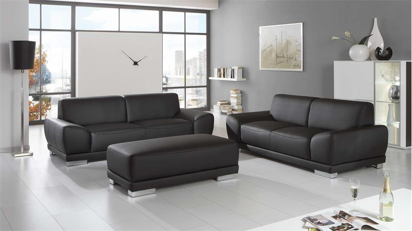 sofa manila 2 sitzer in schwarz mit federkern und vollschaum 198 cm. Black Bedroom Furniture Sets. Home Design Ideas