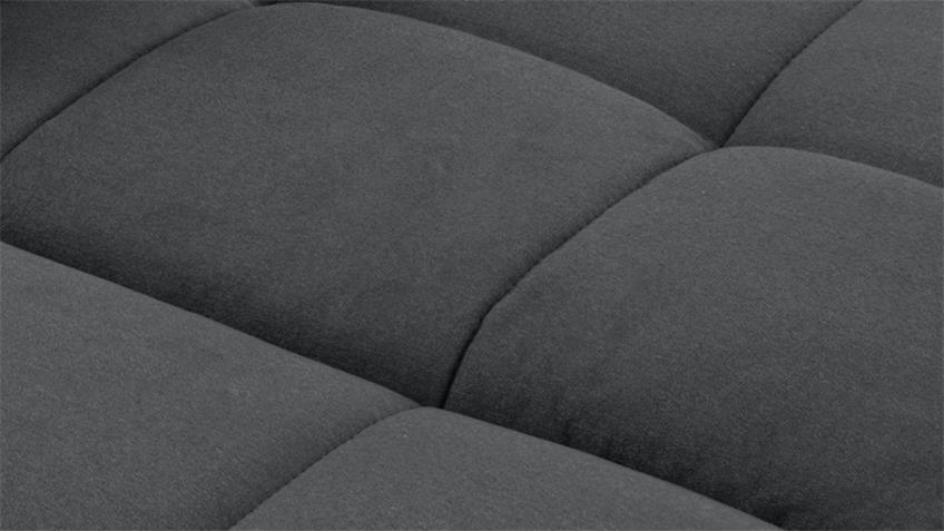 Ecksofa SANTA FE Stoff dunkelgrau mit Sitztiefenverstellung