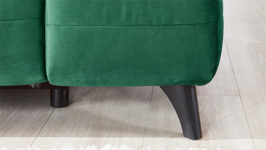Ecksofa CANBERRA Stoff dunkelgrün Sitztiefenverstellung