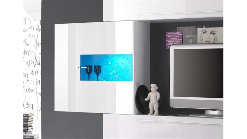 Wohnwand PRIMO A weiß echt hochglanz lackiert