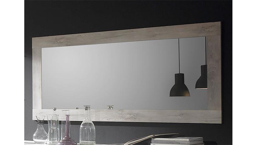 Spiegel MARS Wandspiegel Rahmen in Pinie Weiß Dekor