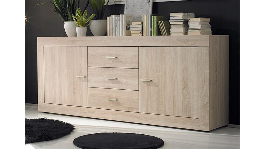 sideboard rustica kommode in sonoma eiche melamin zweit rig. Black Bedroom Furniture Sets. Home Design Ideas