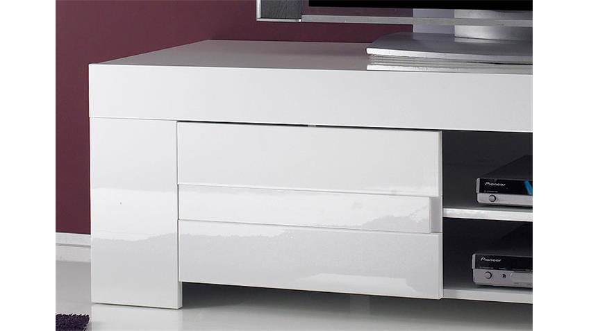 EOS TV-Lowboard Weiß echt Hochglanz lackiert 2 Türen
