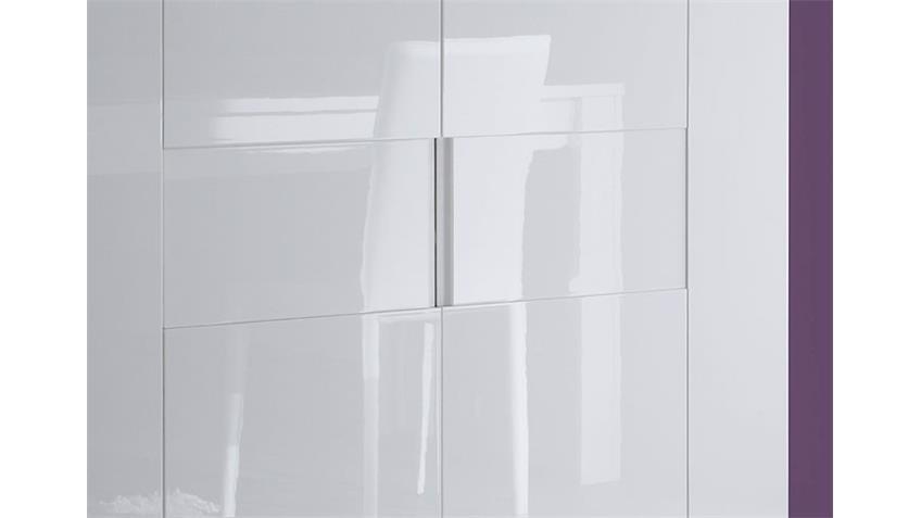EOS Highboard Weiß echt Hochglanz lackiert