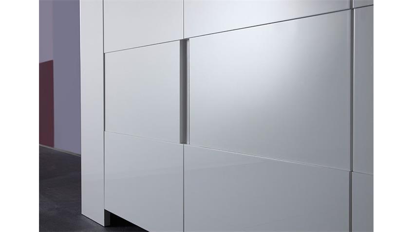 Sideboard EOS weiß echt Hochglanz lackiert 210 cm breit