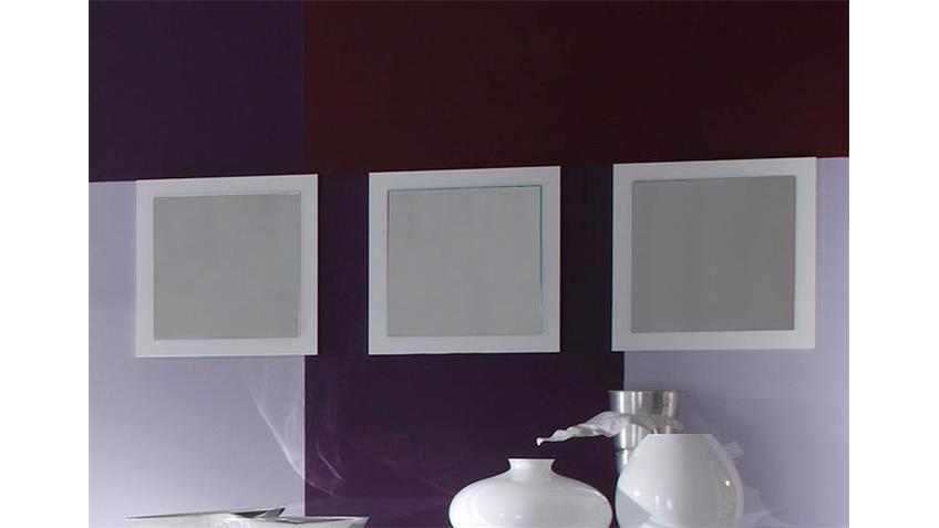 EOS 3er Set Spiegel Weiß echt Hochglanz lackiert