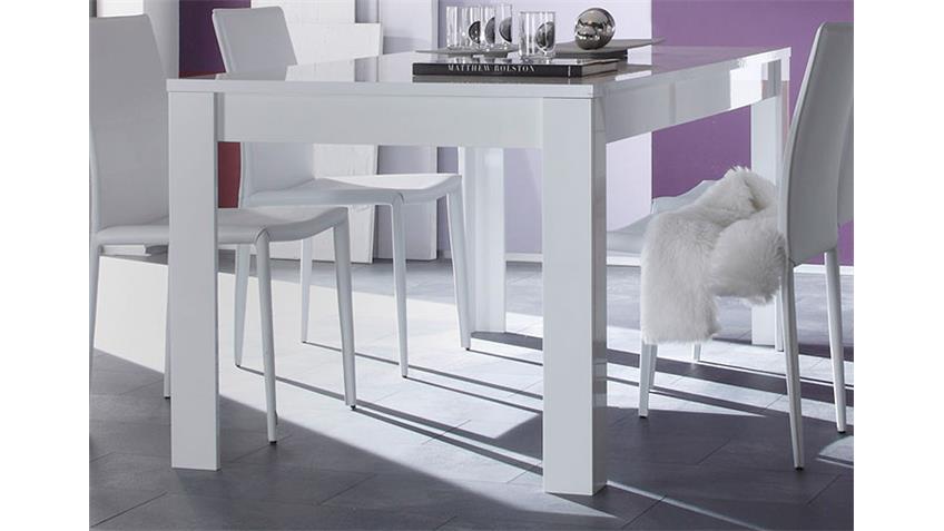 Esstisch EOS Weiß echt Hochglanz lackiert 180x90 cm