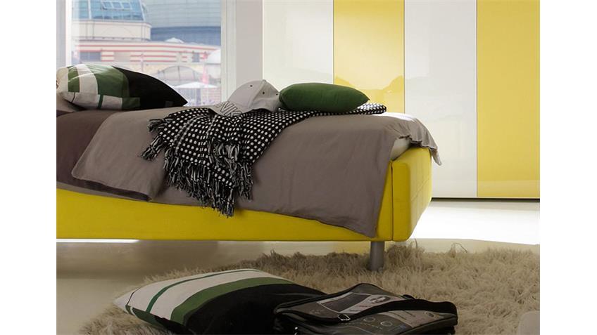 Polsterbett SMART Bett Schlafzimmerbett in gelb 140x200 cm