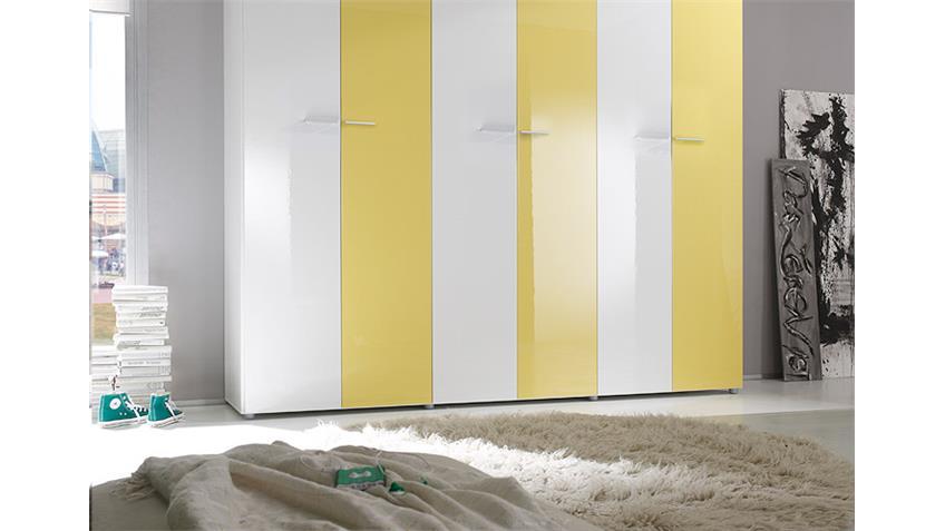 Jugendzimmer SMART Kinderzimmer in gelb weiß hochglanz