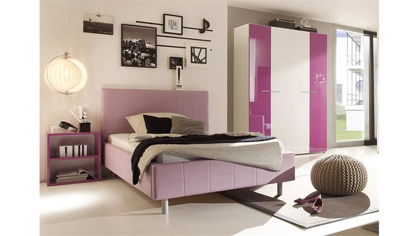 jugendzimmer smart kinderzimmer in lila wei hochglanz. Black Bedroom Furniture Sets. Home Design Ideas