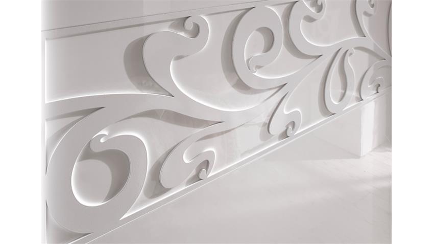 Schwebetürenschrank AMBROSIA 240x240x58 in Hochglanz weiß